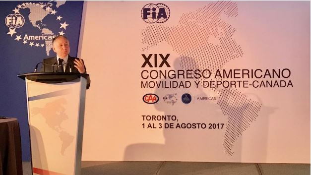 FIA PRESIDENT JEAN TODT OPENS THE XIX FIA CONGRESS OF AMERICAS FOR MOBILITY AND SPORT